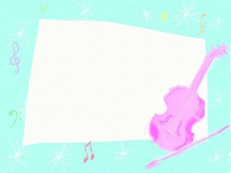 ピンク ヴァイオリンのフレーム