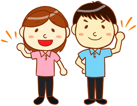 """Polo衫男人和女人""""粉紅色和淡藍色"""""""
