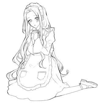 Maid line drawing