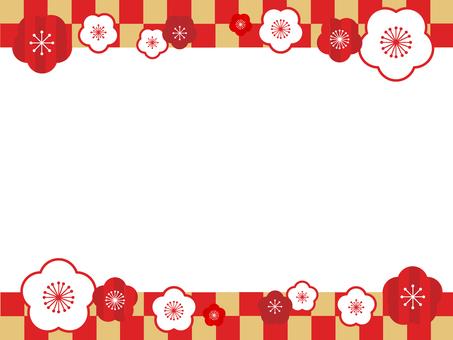 Plum flower decorative frame 20