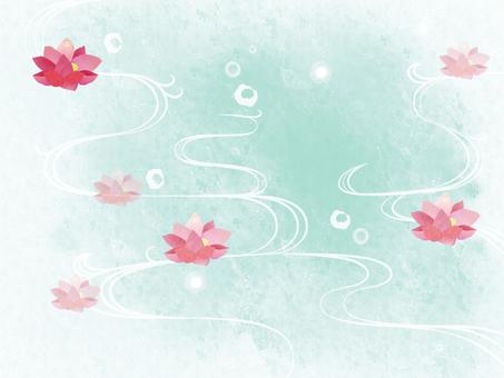 Lotus flower ☆ wave background