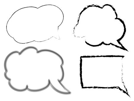 Speech bubble - handwriting wind