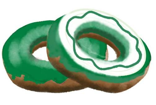 도넛 가루 2 개