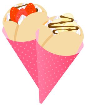 Crepe (strawberry and banana chocolate)