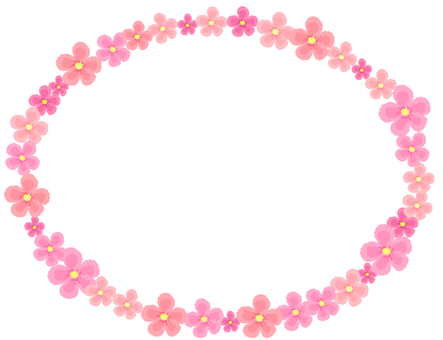 Flower ellipse frame