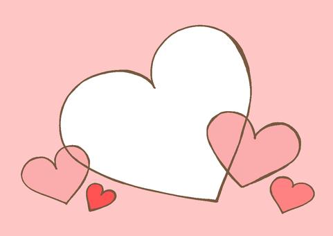 Heart 3 pink