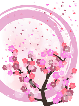 Cherry blossom wallpaper · Japanese style water color background