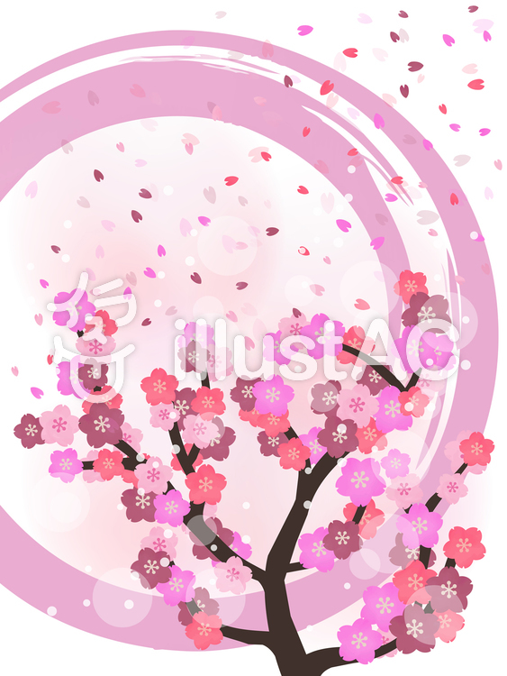 桜の壁紙 和風水彩背景イラスト No 無料イラストなら イラストac