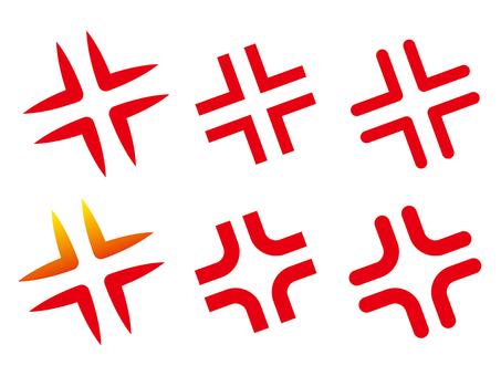 Set of anger marks