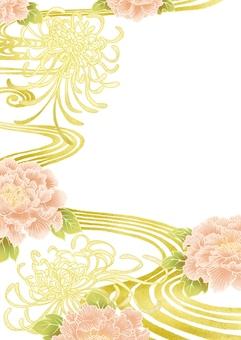 Peony and chrysanthemum