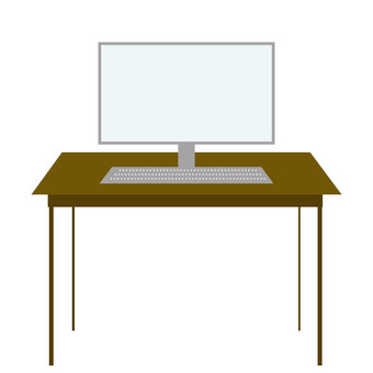 Personal computer on the desk