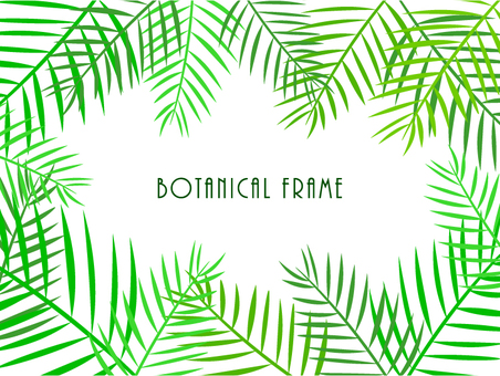 Palm leaf frame