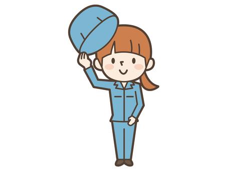 Work wear lady hat