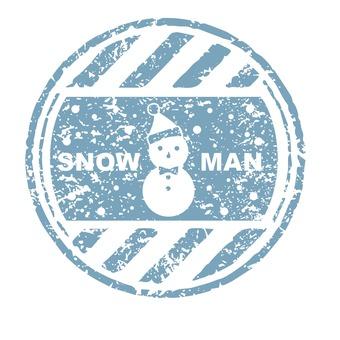 눈사람 스탬프