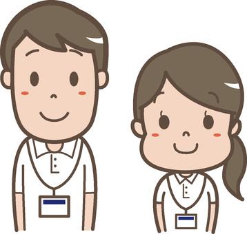 Smiling girls nursing staff