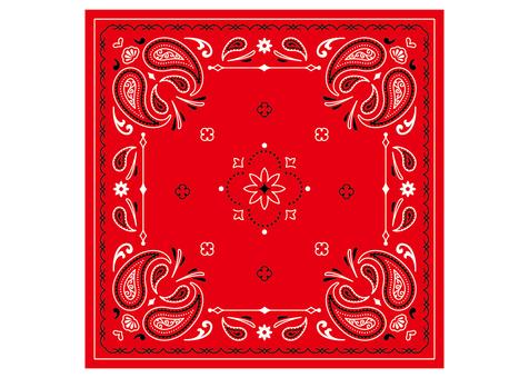 Paisley pattern bandana red