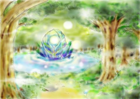 배경 (숲 심부)