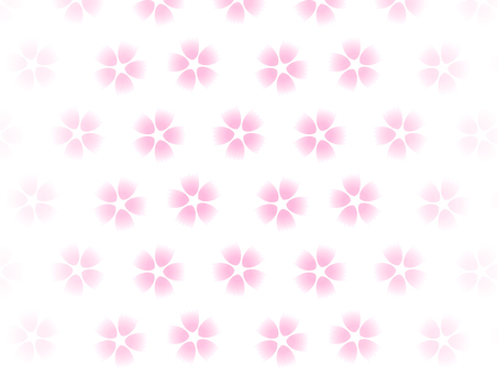 Pink flower background on white background