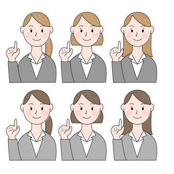 Office worker pointing illustration