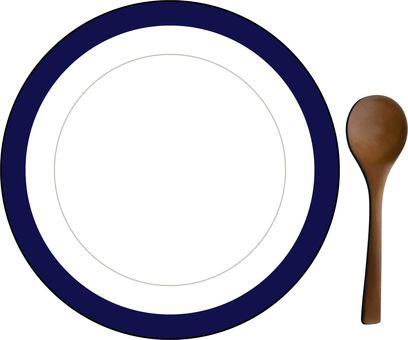 勺子和盤子