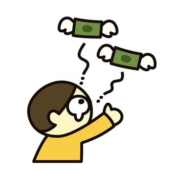Money is flying