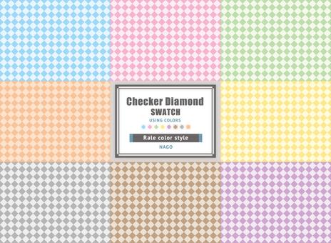Checker diamond swatch part 1