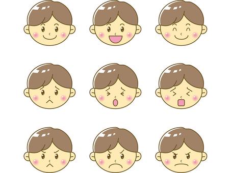 Infant / boy face 02