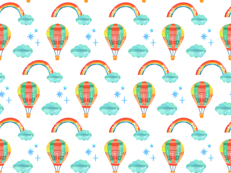 Balloon and rainbow