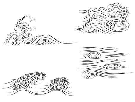 Handwritten wave material