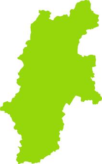 Nagano Prefecture _ Silhouette _ yellow green