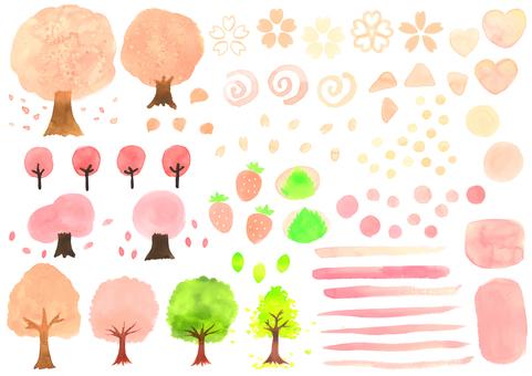 Spring cherry set