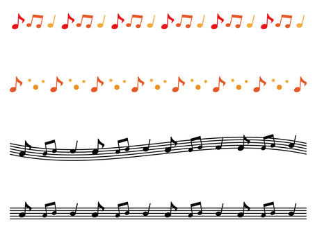 Line of musical notes