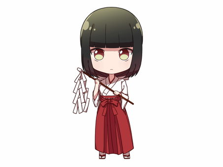 Black-haired Long Maiden