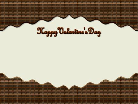 초콜릿 프레임 발렌타인 갈색