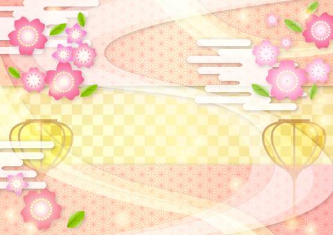 봄의 꽃 (벚꽃 복숭아 꽃) 마츠리 명절에
