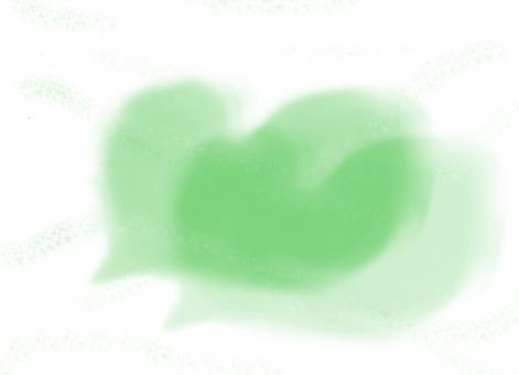 Heart cloud green Ⅱ