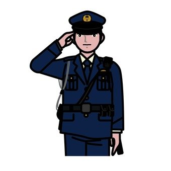 Male police officer