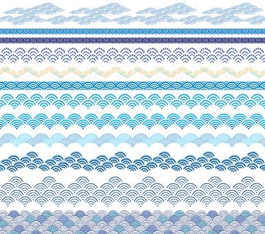 Qinghai wave decorative ruling set 01