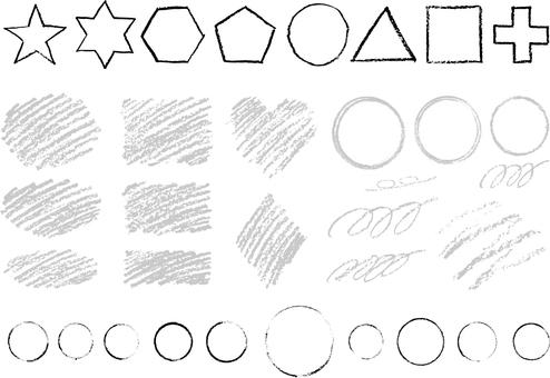 Crayon material 2