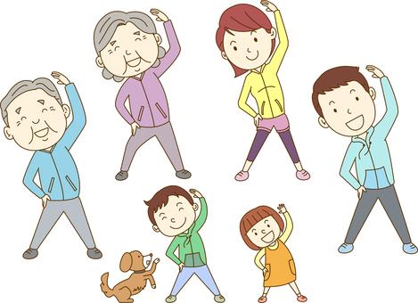 Family / radio gymnastics