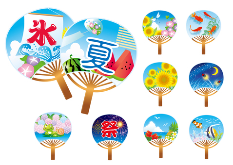 Various sets of fan