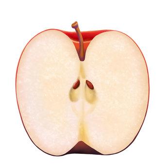 Apple half size