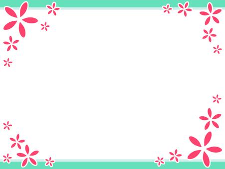 Flower simple frame 5