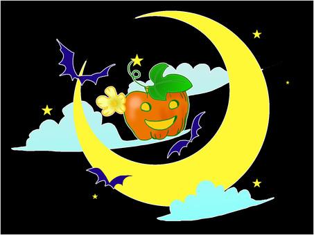 Pumpkin moon night sky