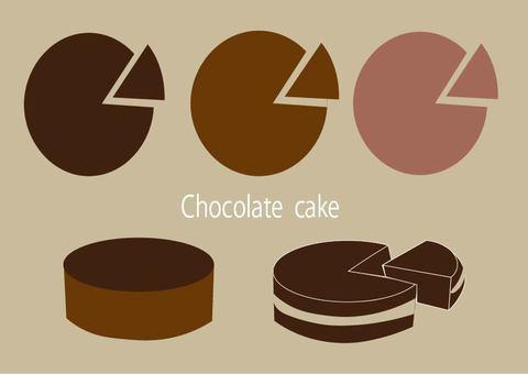 Chocolate cake set