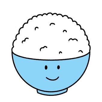 一碗大米飯與一張臉
