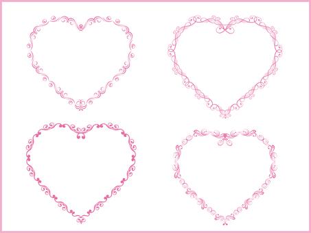 Heart decoration border