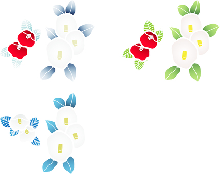 ai Japanese style camellia 3 piece set