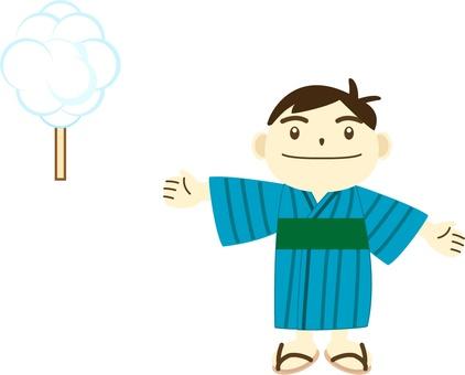 浴衣の男児02