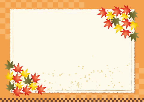 Japanese background material of autumn leaves